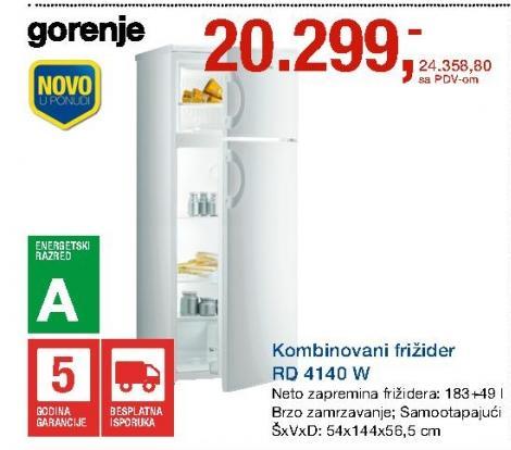 Kombinovani frižider RD 4140 W