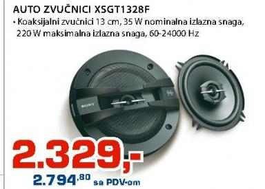 Auto zvučnici XSGT1328F