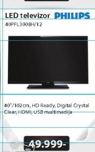 Televizor  LED  40PFL3008H/12