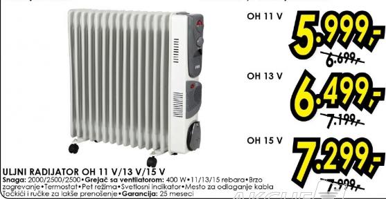 Uljani radijator OH 11V