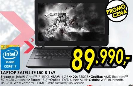 Laptop Satellite L50 B 169