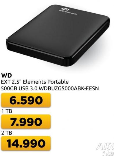 Eksterni hard disk WD Elements Portable 500GB