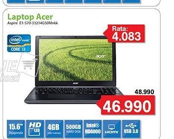 "Laptop Aspire E1-570-33214G50Mnkk 15.6"""