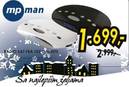 Radio sat FRA 102C/WHITE