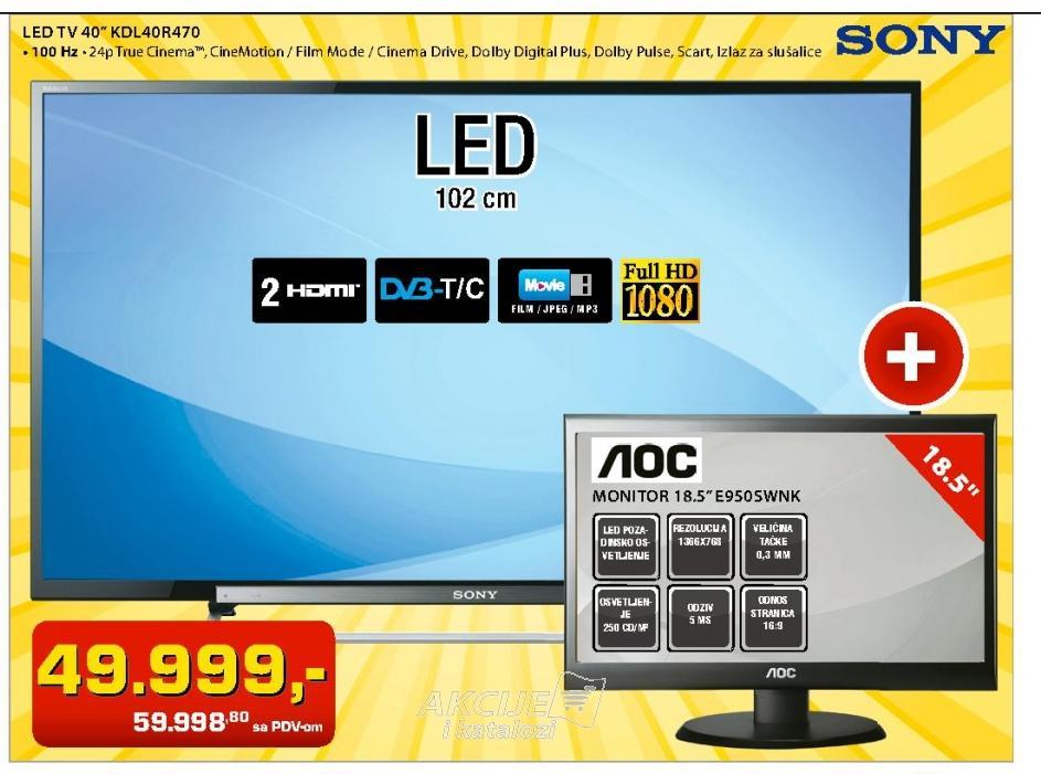 LED Televizor  KDL40R470