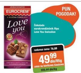 Čokolada eurokrem i lešnik flips