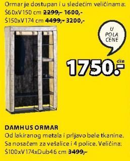 Ormar Damhus 60x150cm