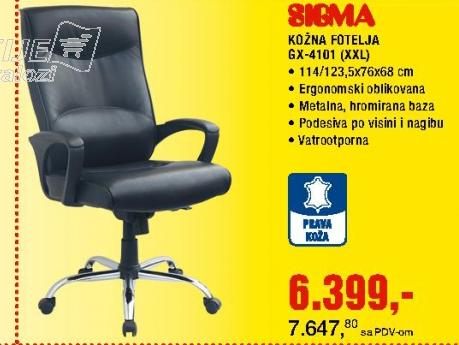 KOŽNA FOTELJA GX-4101 XXL