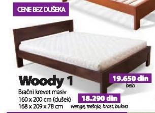 Bračni krevet Woody 1 belo