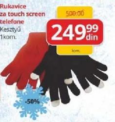 Rukavice za touch screen telefon