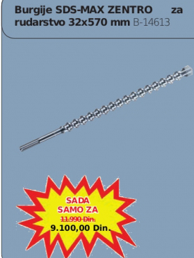 Burgija SDS-MAX Zentro