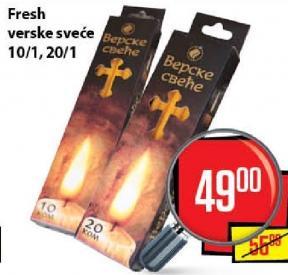 Sveća verska Wax 10-100
