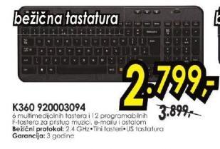 Bežična tastatura K360