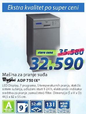 Sudomašina ADP750IX