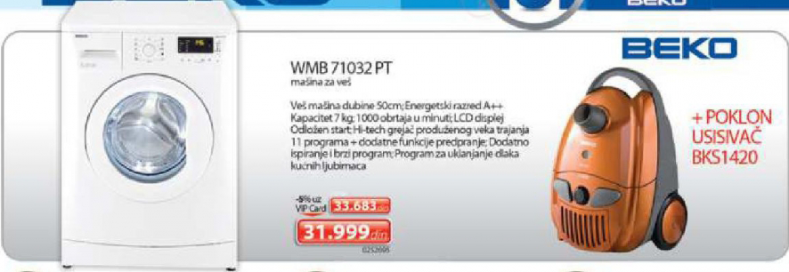 Veš Mašina Wmb 71032 PT