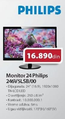 "Monitor LED 24"" 246vslsb/00"