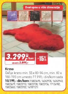 Krzno 55x80-94 cm