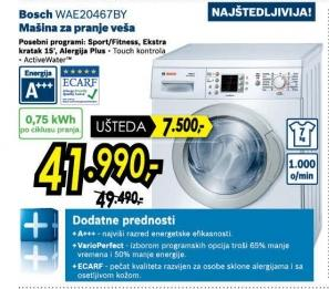 Mašina za pranje veša Wae20467by