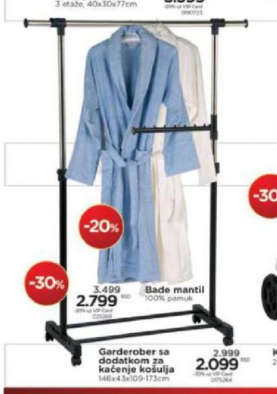 Garderober sa dodatkom za kačenje košulja