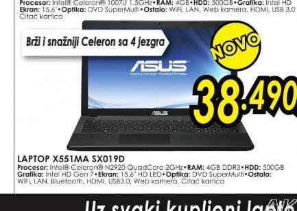 Laptop X551MA-SX019D