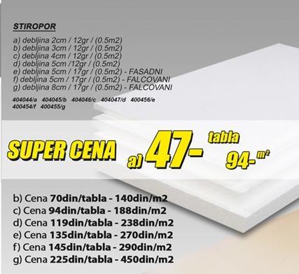 Stiropor 5cm