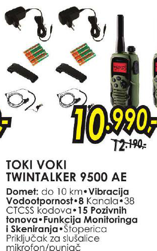 Toki voki Twintalker 9500 AE