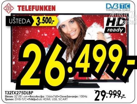 """Televizor LED 32"""" T32tx275dlbp"""