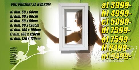 Prozor PVC 80x120