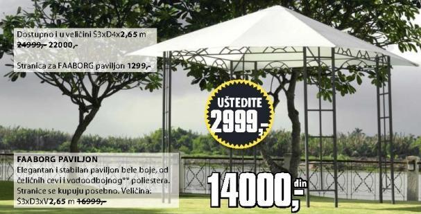 Paviljon Faaborg 3x3x2,65m