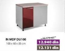 Kuhinjski element In Mdf DU100 Bordo sjaj