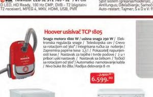 Usisivač TCP 1805