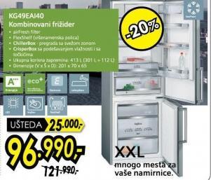 Kombinovani frižider Kg49eai40