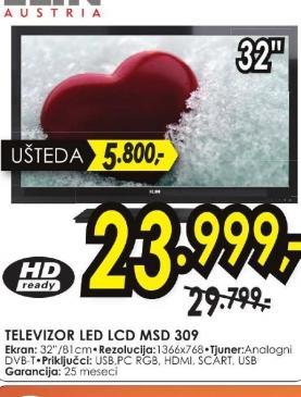 Televizor LED TV D LED MSD309
