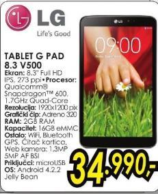 Tablet G Pad 8.3 V500
