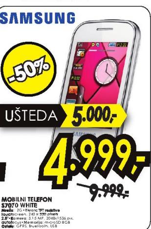Mobilni telefon S7070 White
