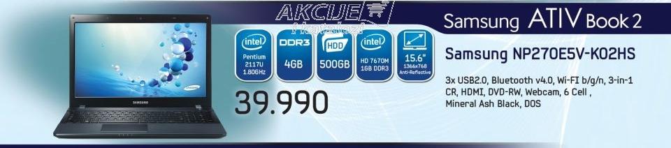 Laptop NP270E5V-K02HS