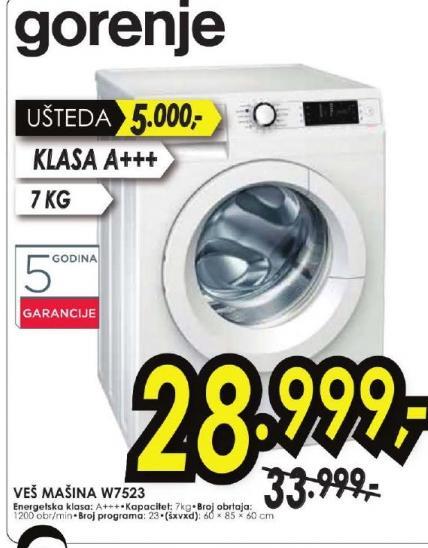Mašina Za Pranje Veša,W7523