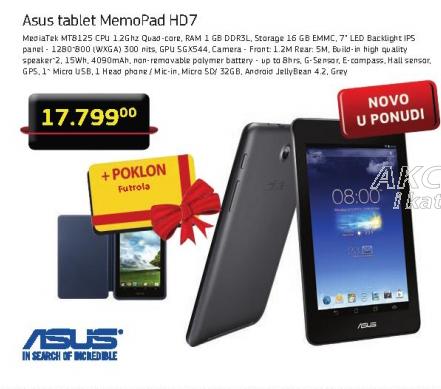 Tablet Memo Pad HD7+ Poklon futrola