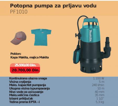 Potopna pumpa za vodu PF1010, MAKITA