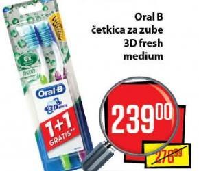 Četkica za zube Advantage 3D fresh