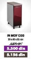 Kuhinjski element IN MDF D30 moka