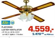 Plafonski luster  ventilator