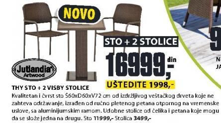 Baštenska stolica Visby Jutlandia