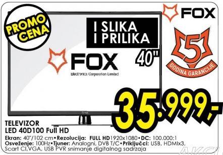 """Televizor LED 40"""" 40d100"""