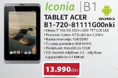Tablet Iconia B1-720-81111g00nki