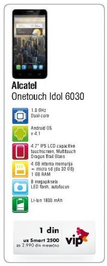 Mobilni telefon Onetouch Idol 6030