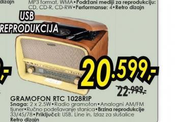 Radio gramofon RTC-1028RIP