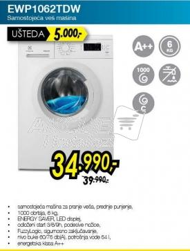 Mašina za pranje veša Ewp1062tdw