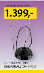 TV i radio antena, One For All OFA SV9033