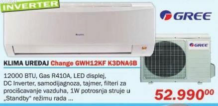 Klima uređaj inverter Change Gwh12kf K3dna6b Gree
